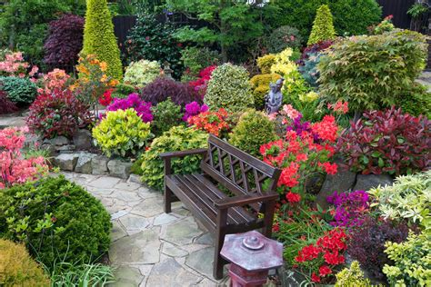 garden seat amongst the late azalea flowers flickr
