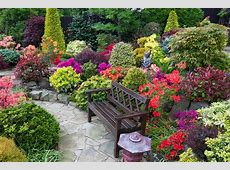 Garden seat amongst the late spring azalea flowers Flickr