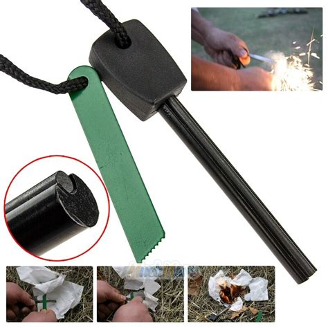 survival magnesium flint stone fire starter emergency