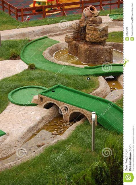 mini golf de bureau zone de mini golf photos stock image 15142373