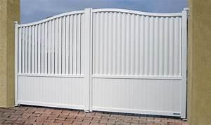Portail Coulissant 2 Vantaux : portail 2 vantaux ou coulissant archi material ~ Edinachiropracticcenter.com Idées de Décoration