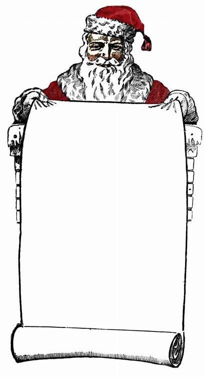 Santa Victorian Clip Sign Clipart Christmas Graphics