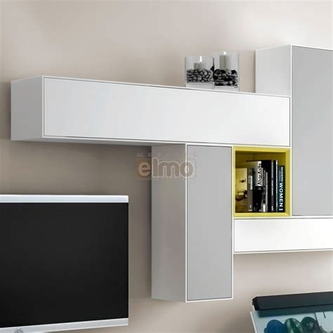 canapes rapido ensemble meuble tv mural composable design laque bicolore