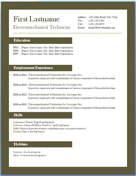 21571 resumes templates word resume templates for microsoft word xp image collections