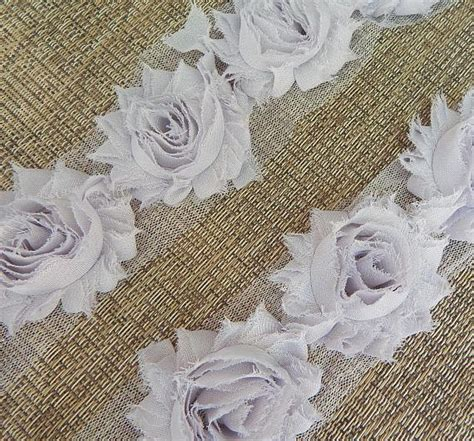 shabby chic fabric grey gray shabby chic flowers by the yard 2 5 inch solid shabby