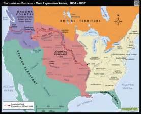 Louisiana Purchase and Exploration Map