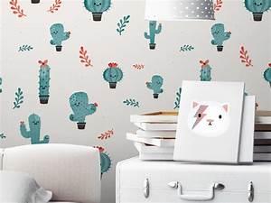 Papier Peint Bébé Garcon : des papiers peints blancs aux motifs enfantins joli place ~ Nature-et-papiers.com Idées de Décoration