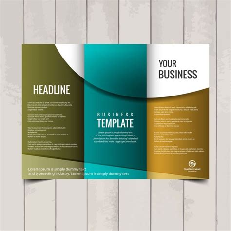 tri fold brochure template vector