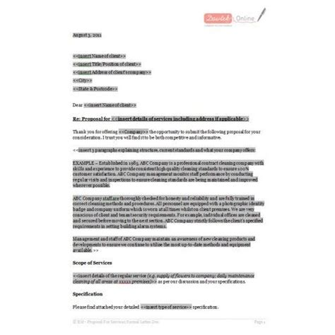 informal proposal letter  informal proposal
