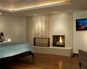 Indirekte Beleuchtung Leisten : led leisten versteckt decke paneele schlafzimmer kamin holz haus ideen pinterest ~ Watch28wear.com Haus und Dekorationen