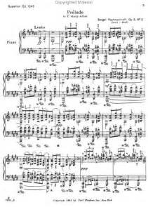 C Sharp Minor Rachmaninoff Prelude Sheet Music