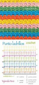 Crochet  Punto Ladrillos  Diagrama O Patr U00f3n  Pusimos El