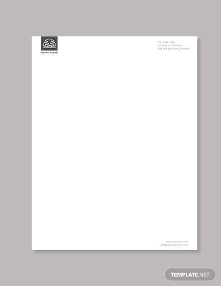 sample church letterheads  illustrator