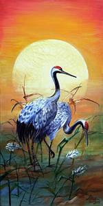 Japanese cranes by CheetahArt on DeviantArt