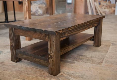Coffee Tables : Farmhouse Coffee Table Rustic Coffee Table Solid Wood