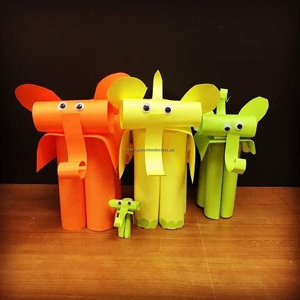 elephant crafts ideas  kindergarten preschool