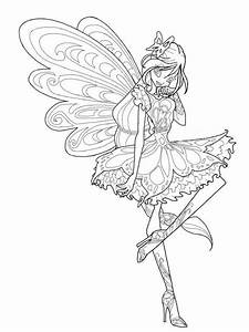 Winx Butterflix Coloring Pages