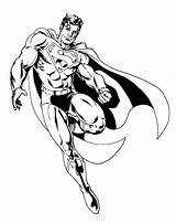 Coloring Pages Superman Super Hero Printable Flying sketch template