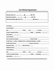 sample form for car rental and lease free download With turnkey contract template
