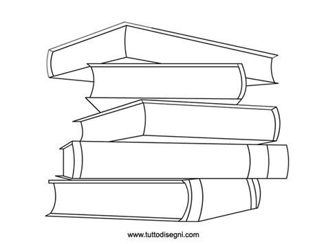 immagini di libri da colorare per bambini libri sovrapposti da colorare tuttodisegni