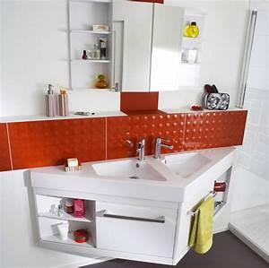un meuble triangle astucieux pour les petites salles de With porte de douche coulissante avec meuble salle de bain decotec bento