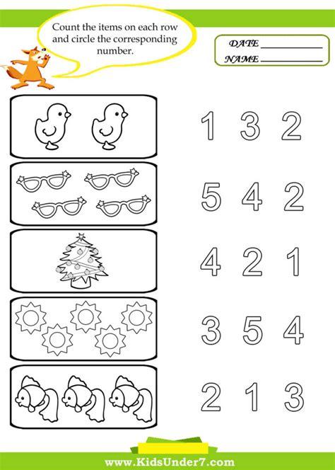 Coloring Pages Kids Under 7 Preschool Counting Printables, Kids Preschool Worksheets 101