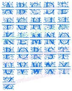 Split Monogram SVG Files