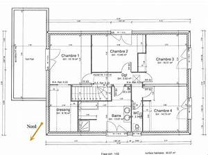 plan maison cote With plan maison r 1 100m2 15 construction maison en bois