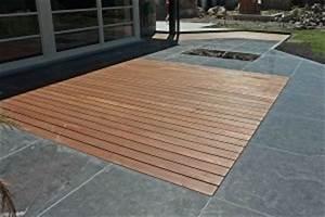 terrasse bois et carrelage With comment creer un jardin paysager 13 comment poser un carrelage exterieur sur des plots