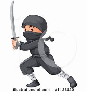 Ninja Clipart #1138820 - Illustration by Graphics RF