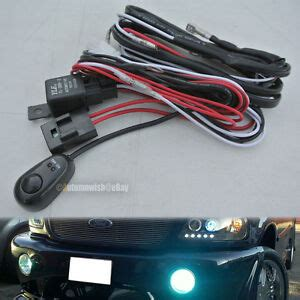 Universal Automotive Fog Light Wire Wiring Harness Kit
