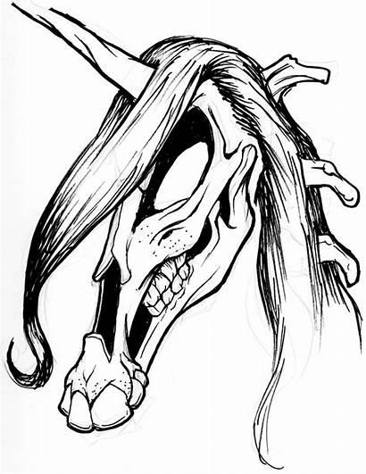 Dark Unicorn Drawing Pencil Caricatures Cat Getdrawings