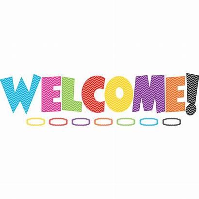 Welcome Board Bulletin Chevron Display Classroom Boards