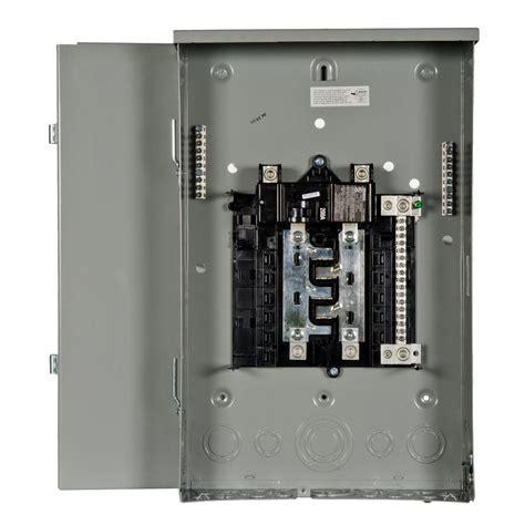 siemens pl series 200 8 space 16 circuit breaker outdoor trailer panel load center