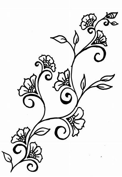 Rose Easy Drawings Simple Vines Henna Inspired
