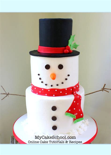christmas winter tutorials  cake