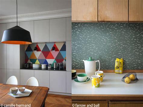 papier vinyl cuisine le papier peint dans une cuisine ça change tout