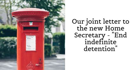 """A member of the u.s. A joint letter to the new Home Secretary - """"the system ..."""
