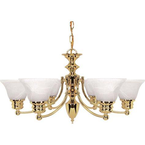 brass chandelier glomar nuwa 6 light polished brass chandelier with