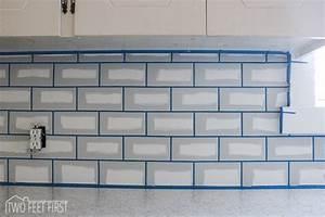 DIY Cheap Subway Tile Backsplash