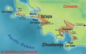 Ixtapa Zihuatanejo Mexico Map