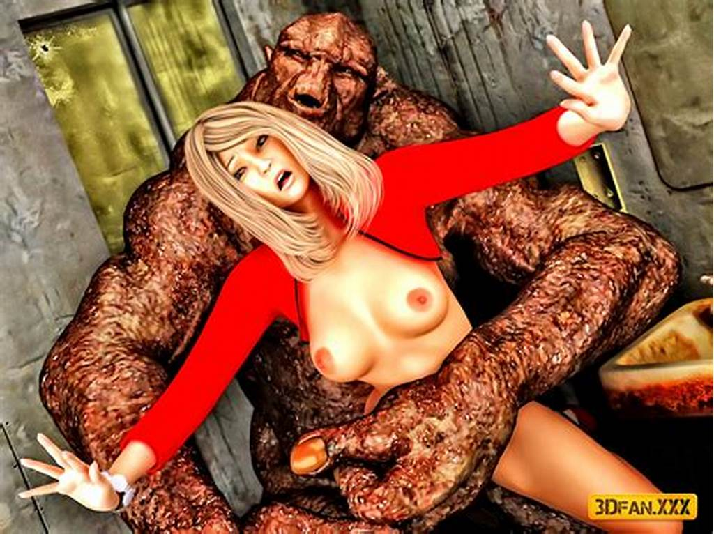 #Beautiful #Blonde #In #Red #Dress #Getting #Raped #By #A #Monster