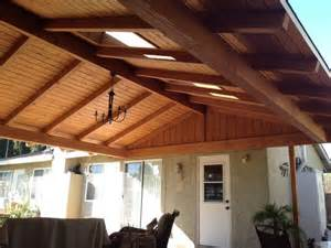Solid Roof Patio Cover Attached to House