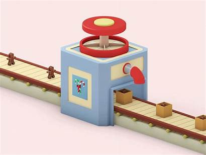 Machine Animation Candy Factory Behance 3d Candybox