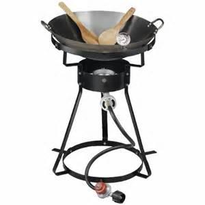 Propane Fryer Outdoor Gourmet Wok Package
