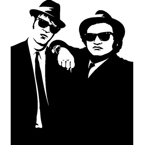 stickers arbres chambre bébé sticker silhouette blues brothers stickers musique
