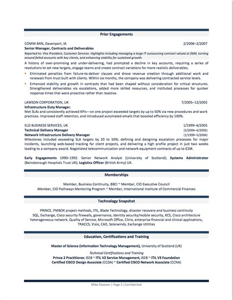 coaching resume example professional resume examples by gayle howard top margin