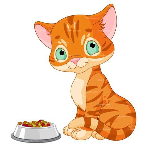 Cartoon Cats Eating Clip Art