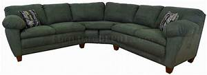 Sage green fabric modern sectional sofa w wooden legs for Sage green sectional sofa