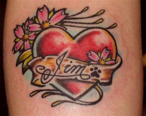 lovable heart tattoos designs